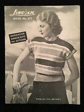 VINTAGE HANDKNITS BOOKLET BY LINCOLN