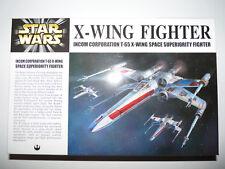 STAR WARS X-WING FIGHTER FINE MOLDS 1/72 2001 MODEL KIT MODELE REDUIT