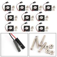10x 2 broche 30x30x7MM 3007 DC 5V Ventilateur Radiateur Pour Raspberry Pi 4B 3B+