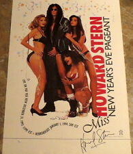 HOWARD STERN SIGNED/AUTOGRAPHED POSTER 1993 NEW YEARS ROTTEN EVE (JSA CERT/RARE)
