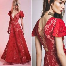 The Jetset Diaries Piazza Red Lace Maxi Dress Small 8/10 Designer Asos New 😍39.