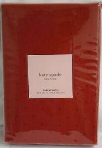 Kate Spade New York Tablecloth Larabee Dot Cranberry Red NIP Dots