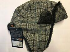 L. Brador vêtements Carreaux Chapeau avec imitation fourrure S/M