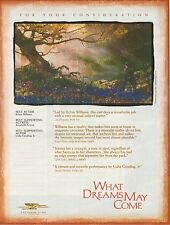"WHAT DREAMS MAY COME Robin Williams BEST ACTOR Rare OSCAR AD 1998 ""Tree"""
