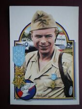 POSTCARD WWII MAJOR RICHARD I BONG 9TH FIGHTER SQUADRON WWII - ABOVE & BEYOND