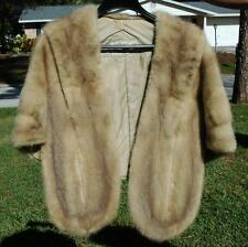 Beautiful Vintage Mink Stole Cape With Pockets & Collar by Mark Twain Furs