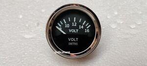 Smiths 52mm  Volt Gauge  meter Black Chrome