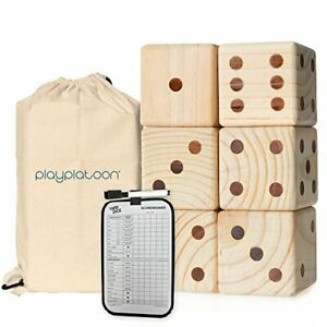 Giant Wooden Lawn Dice - Yard Dice Game