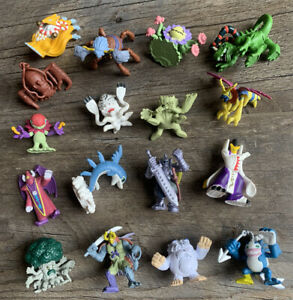 "Genuine 2001 DIGIMON Bandai 2"" Digital Monsters Mini Figures Lot (17) DOLPHMON++"