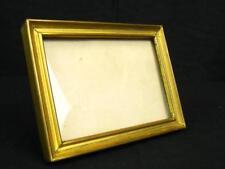 "Antique 4.25"" Miniature Gold Metal Picture Photo Eisel Frame"