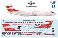 Revaro Decal Interflug Tu-134 Veb Plasticart 1/100