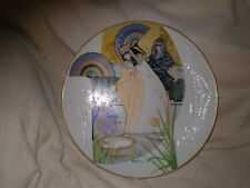 """The Pharoahs Daughter & Moses"" Porcelain Plate, Em Knowles #3089c, 1985, Usa"