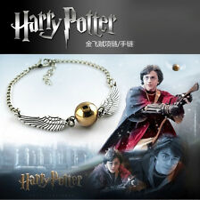 New Harry Potter The Golden Snitch Wing Golden Quidditch Pendant Necklace Chain