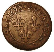 OLD COINS France 1638 Double Tournois CANADA NEW FRANCE
