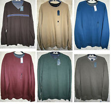 Arrow long sleeve Crew Sueded Fleece shirt Colors warm Very Soft Solid Stripe