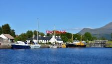 PHOTO  CALEDONIAN CANAL BASIN AT CORPACH START OF THE CALEDONIAN CANAL WHICH LIN