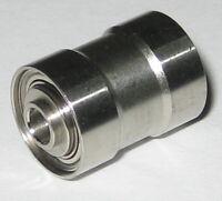 "NSK Mini Ball Bearing w/ 3/8"" D Groove and 4-40 Thread Bore - 0.60"" L x 0.40"" OD"