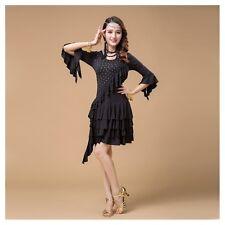 【PLUS SIZE】 Latin Dance Dress up Salsa Tango Tassel Sequins Samba Costume Skirt