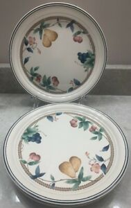 "DINNER PLATES NORITAKE KELTCRAFT ""NATURES BOUNTY"" ireland 4-pretty plates!!"