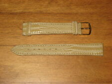 NEW BEIGE WATCH BAND W/ PINS & GOLD BUCKLE