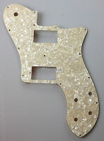 72 Tele Deluxe Reissue Guitar Pickguard PAF Humbucker, 4Ply White Ivory Pearl