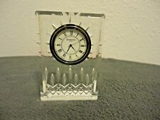 "WATERFORD LEAD CRYSTAL CLOCK MADE IN IRELAND 4"" X 3"" GREAT WORKING CONDITION"