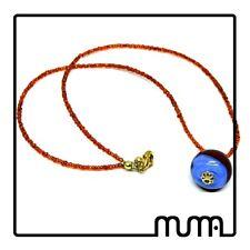 Regalo donna collana girocollo con perle e murrina in vetro murano colorata