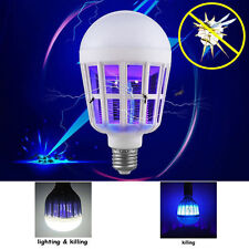LED Bulb E27 15W Anti-Mosquito Insect Zapper Flying Moths Killer Light lamp