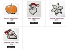Winter Holiday Christmas Floating Charms fit in Origami Owl Living Locket