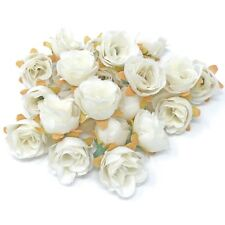 White Rose Bud Decorative Synthetic Flowers (Faux Silk) - UK SELLER