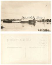 Early 1900s Wausau Wisconsin Flood VINTAGE RPPC Real PHOTO POSTCARD