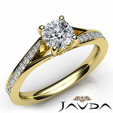 Cushion Diamond Engagement GIA F Clarity VS1 Pre-Set Ring 18k Yellow Gold 1.07Ct