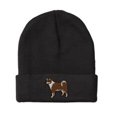 Beanies for Men Canadian Eskimo Dog Embroidery Winter Hats Women Skull Cap