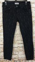 Free People black Textured Jeans womens 27 Payton Jacquard Skinny A11
