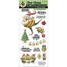 Art Impressions Christmas Clear Stamps - Christmas Bee