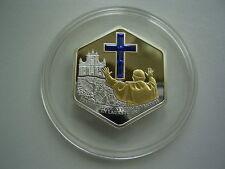 COOK ISLANDS - 5 Dollars 2007 ** PAPSTBESUCH IN LORETO ** Silber Swarovski