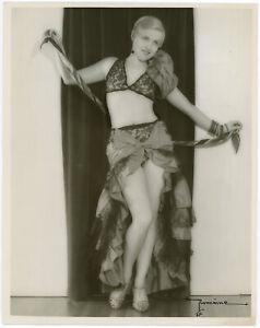 Vaudeville Rhumba Dancer Helene Drennan Original 1933 Signed Romaine Photograph