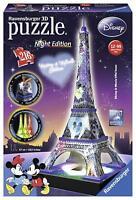 PUZZLE 3D TOUR TORRE EIFFEL DISNEY NIGHT EDITION LED 216 PZ RAVENSBURGER 12520