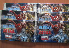 MARVEL UNIVERSE Lot de 6 BOOSTERS de 5 cartes HERO ATTAX - TOPPS