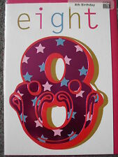 GIRL'S 8TH BIRTHDAY CARD