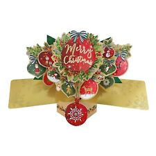 Christmas Pop Up 3D Card Suitable For Family Friends Neighbours Kids Children UK