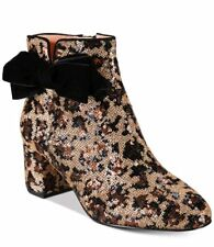 kate spade new york Leopard Print Langley Bow Booties $350 Mult Sz