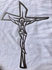 "CROSS MODERN CNC Metal Wall ART or DOOR HANGER. ""FREE SHIPPING""!!!!"
