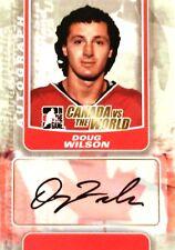 11-12 itg game canada vs world doug wilson team autograph auto