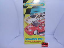 SUPERSLOT CATALOG DROP-DOWN YEAR 2001 NEW SCALEXTRIC UK