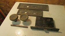 Antique Russwin Cast Iron Mortise Lock Plates Knobs Parts