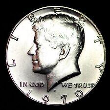 1970-D Kennedy 40% Silver Half Dollar GEM BU FREE SHIPPING