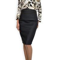 New Office Work Pencil Bodycon Black Denim High Waist Skirt 8 10 12 14 16 18 20