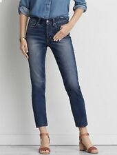 American Eagle AEO Women's Blue Jeans Denim Vintage Hi-Rise Buttons Fly Size 6