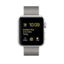 Apple Watch Series 2 42mm Aluminiumgehäuse in Silber mit Klassischem Armband in Perlgrau - (MNPK2ZD/A)